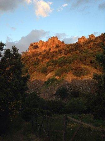 """Centro di Educazione Ambientale Serra Guarneri: Sunset view of the """"Serra""""."""