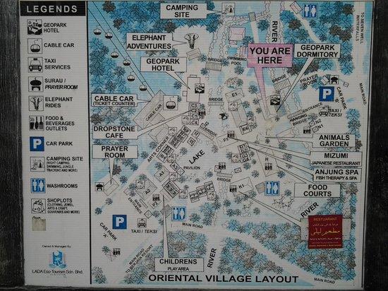 Oriental Village Langkawi: Peta lokasi wisata