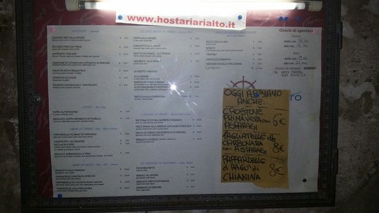 HOSTARIA IL RIALTO: TUTTO BUONISSIMO! !