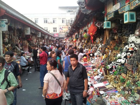 Wangfujing Street: Lots of souvenirs - bargain hard