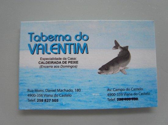 Taberna do Valentim: カード