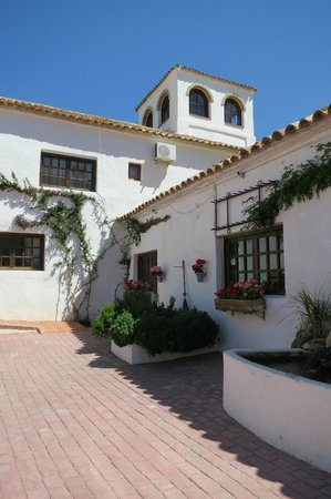 Hacienda Horses: View from the courtyard.