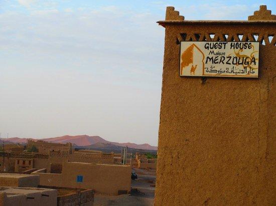 Guest House Merzouga: Vue de la terrasse