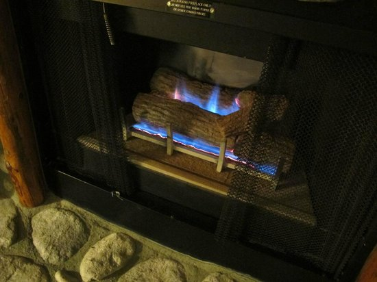 The Lodge at Big Bear Lake, a Holiday Inn Resort : working fireplace