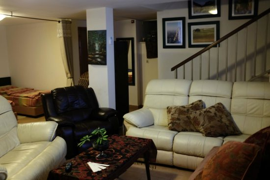 Arbel Guest House Shavit Family: the dorm room with living room with big TV!