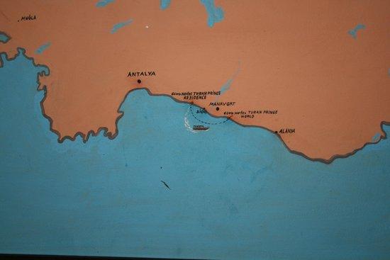 SENTIDO Turan Prince: карта