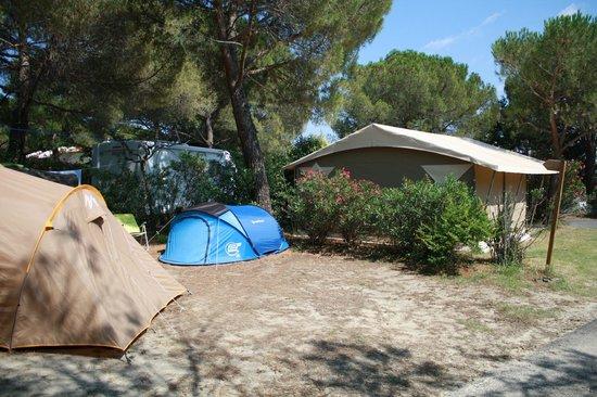 Camping municipal Castelsec: Aire de camping