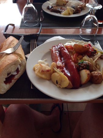 TUI MAGIC LIFE Fuerteventura: German night in the main buffet restaurant Bratwurst time!