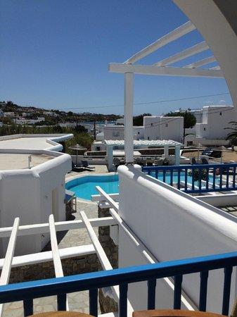 Argo Hotel Mykonos: Vue de la chambre 113