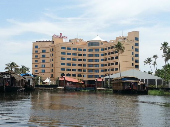 Ramada Alleppey : View of hotel from Lake