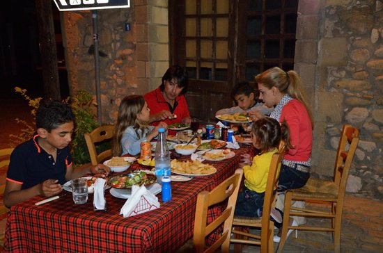 Arsinoe Fish Tavern : Cypriot family enjoying our fresh and traditionally prepared food