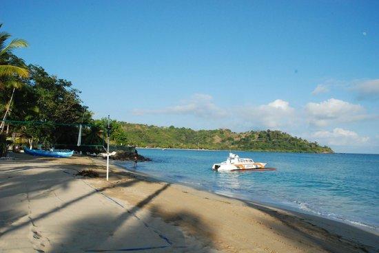 Andilana Beach Resort : Spiaggia e una delle barche del diving