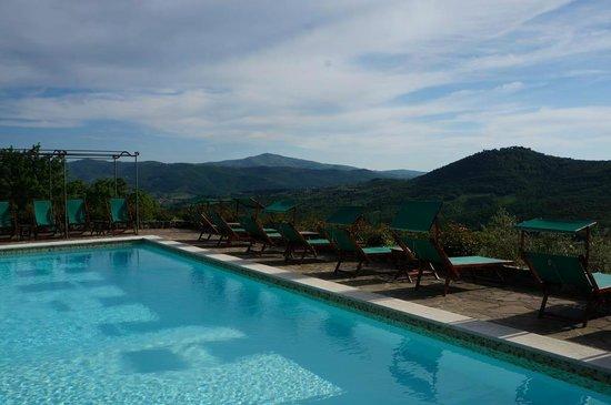 Villa di Monte Solare: Pool with the view