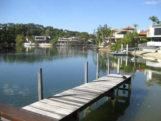 Caribbean Noosa: Back of hotel - river view