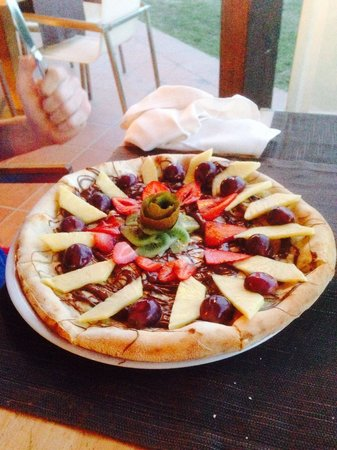 Ristorante I Ginepri: Pizza au Nutella! Un délice !