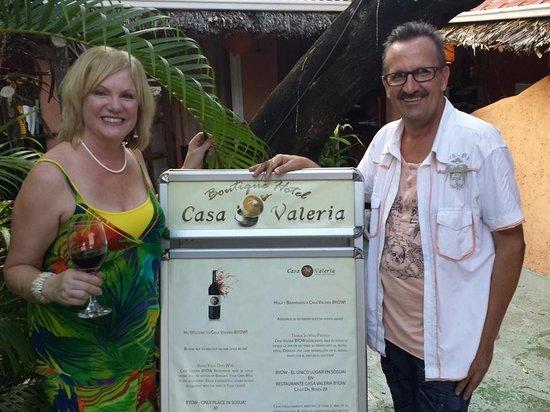 Casa Valeria Bring Your Own Wine Restaurant : Me & owner at Casa Valeria Restaurant