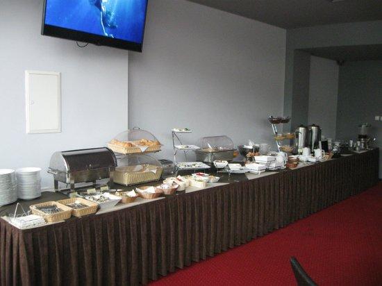 InterHouse Hotel: Il buffet mattinale.