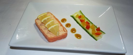 salmon roulade picture of falcon restaurant carmarthen tripadvisor. Black Bedroom Furniture Sets. Home Design Ideas