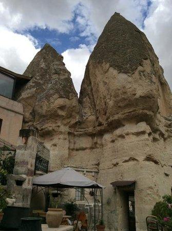 Divan Cave House: The Divan Cave terrace