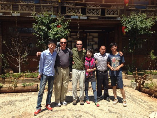 Baisha Holiday Resort Lijiang: The staff of Baisha Holiday Resort along with my Dad and I. These folks are the best!