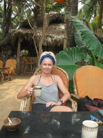 Agonda White Sand: Chai Tea in the morning