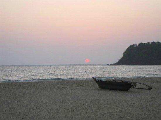 Agonda White Sand: Sunset View from White Sands