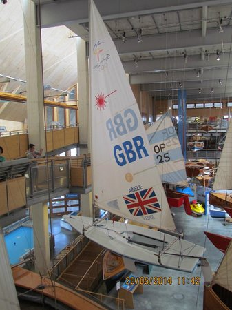 National Maritime Museum Cornwall: Ben Ainslie dinghy