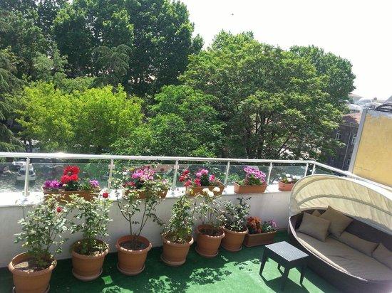 Raymond Blue Hotel: Terrace wiew