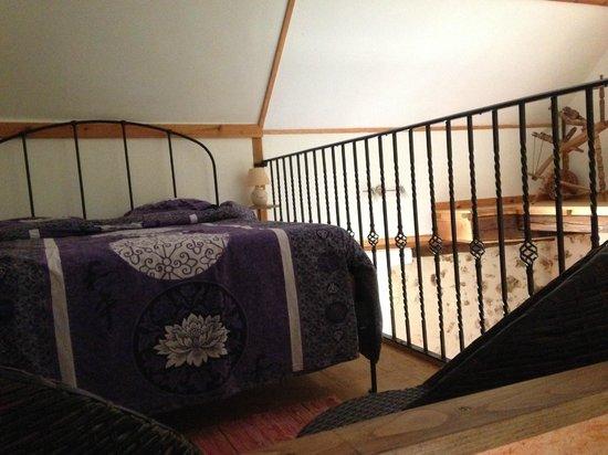 Gite Forestier: camera da letto nel soppalco del cottage