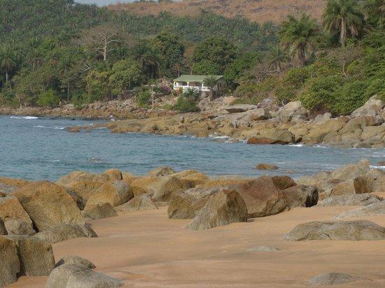 la Villa Elijah vue de la plage