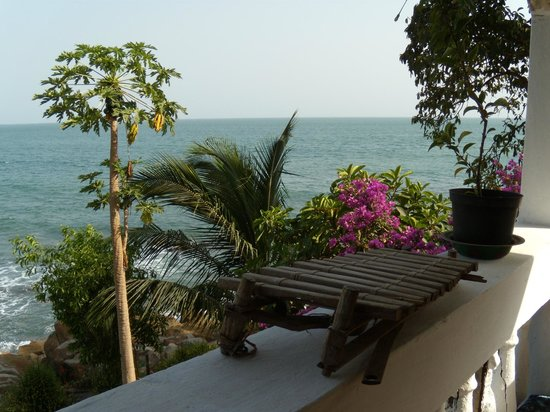 La Villa Elijah: vue de la terrasse