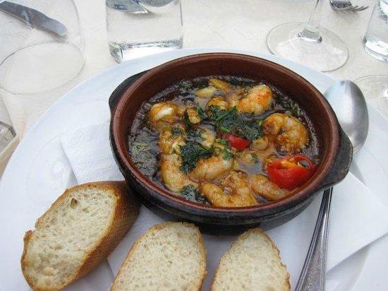 Molino del Santo : Shrimp and chorizo--delicious!