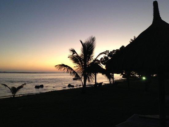 Nice sunset at h  beach of the Tamassa Resort