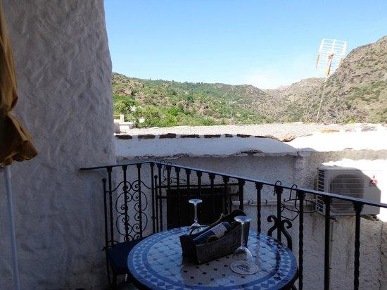 Cuevas de la Mora Luna : view from the balcony at the village house