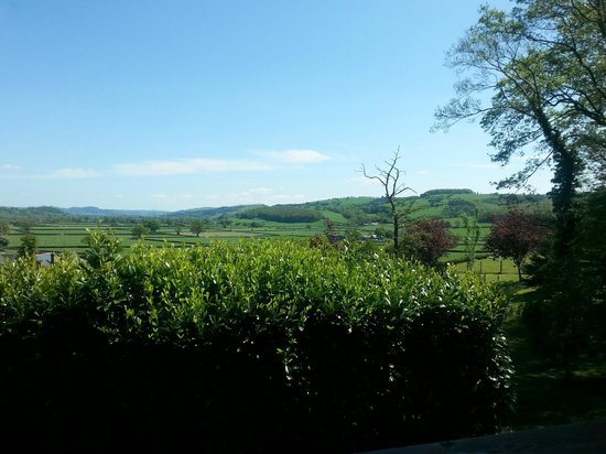 Luxury Lodges Wales: view from 'valley view' lodge