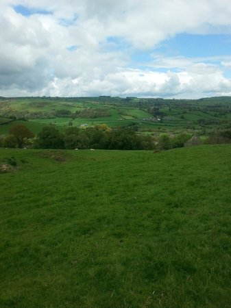 Luxury Lodges Wales: view from walk behind lodges