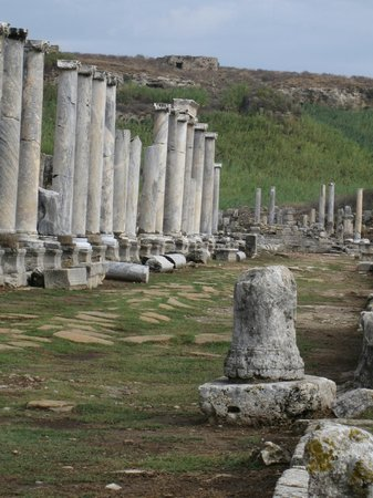 Perge Ancient City : Colonnaded Walkway of the Agora