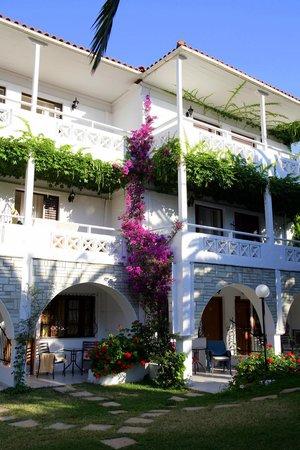 Hotel Porfi Beach: Porfi Beach garden view