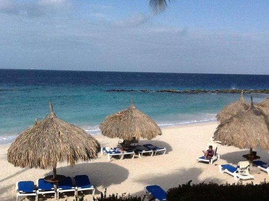 Curacao Marriott Beach Resort & Emerald Casino: Taken one morning while having coffee on our balcony