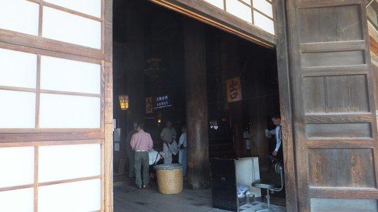 Zenko-ji Temple : 戒壇巡り出入口