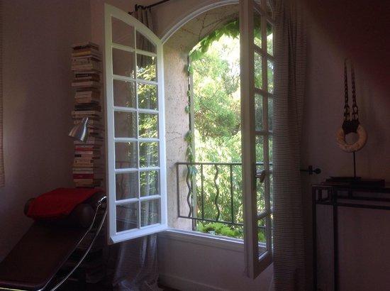 Les Acanthes: Uitzicht vanuit de slaapkamer van het appartement