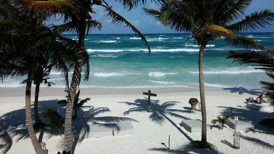 The Beach Tulum : View from second floor room 12