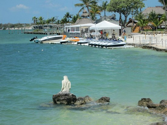 Postcard Inn Beach Resort Marina Mermaid Statue On