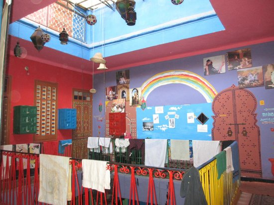 Rainbow Marrakech Hostel : Rainbow Hostel first floor