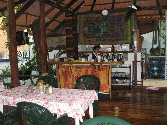 Eco-Hotel El Rey Del Caribe: Breakfast area