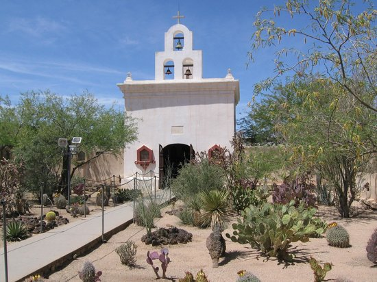 Mission San Xavier del Bac: Side Chapel and Cactus Garden
