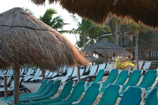 "Catalonia Riviera Maya: Interface of regular beach area and ""privileged"" areas"