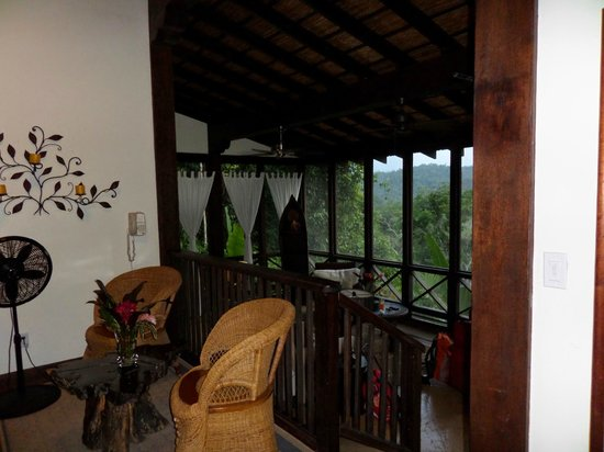 Ian Anderson's Caves Branch Jungle Lodge: looking from bedroom
