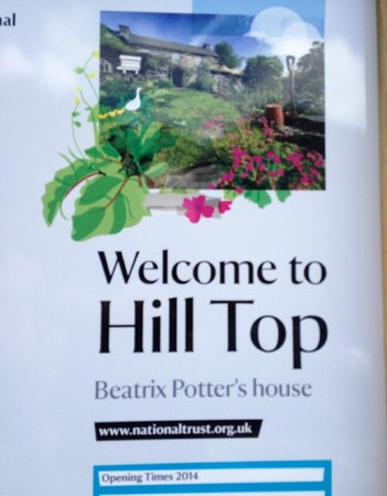 Hill Top, Beatrix Potter's House: Welcome poster