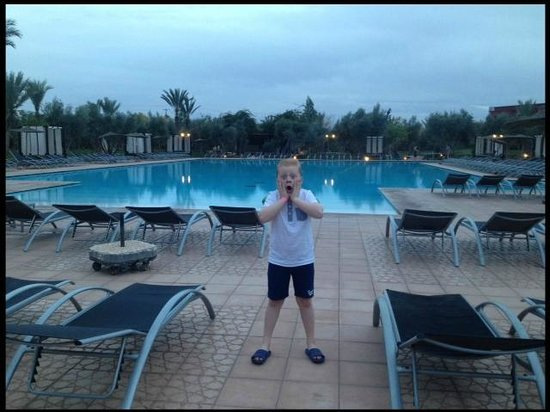 Eden Andalou Hotel Aquapark & Spa: Large Pool at dusk